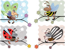 Stellen Sie Insekte ein lizenzfreie abbildung