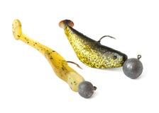 Stellen Sie Köder für das Fangen eines räuberischen Fisches ein Lizenzfreie Stockfotografie
