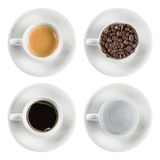 Stellen Sie Kaffeetasse lokalisiert ein Lizenzfreie Stockfotografie