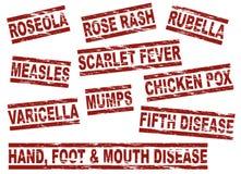 Stellen Sie Kinderkrankheiten ein stock abbildung