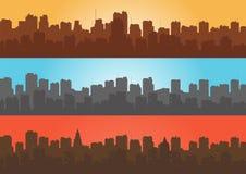 Stellen Sie, Kontur der Stadt ein Lizenzfreie Stockbilder