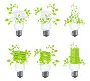 Stellen Sie Leistungeinsparunglampen ein lizenzfreie abbildung