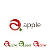 Stellen Sie Logoapfel ein Abstrakter Apfel des Zeichens stock abbildung