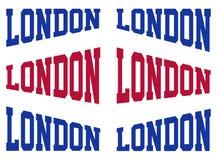 stellen Sie London-Typografie ein stock abbildung