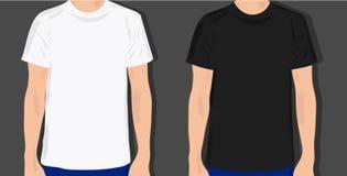 Stellen Sie männliche T-Shirts ein Stockfotografie