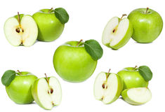 Stellen Sie mit grünem Apfel ein Stockbilder