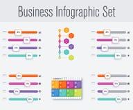 Stellen Sie mit infographics ein Stockfotografie