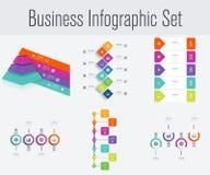 Stellen Sie mit infographics ein Stockbilder