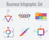 Stellen Sie mit infographics ein Lizenzfreie Stockbilder