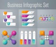 Stellen Sie mit infographics ein Stockbild