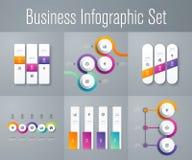 Stellen Sie mit infographics ein Lizenzfreie Stockfotos