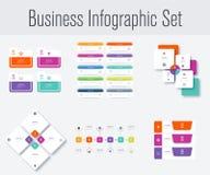 Stellen Sie mit infographics ein Lizenzfreie Stockfotografie