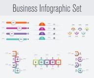 Stellen Sie mit infographics ein Stockfoto