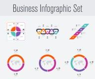 Stellen Sie mit infographics ein Lizenzfreies Stockfoto