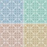 Stellen Sie mit vier nahtlosen Mustern ein Stockbild