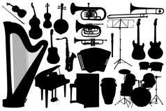 Stellen Sie Musikinstrument ein Stockfotografie