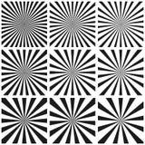 Stellen Sie Muster des hellen Strahls, Sun sprengen Retro- Muster, Vektorschablone, Pop-Arten-Hintergrund, Kreisstrahl Sonnendurc stockfotografie