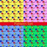 Stellen Sie Muster mit farbigen Ballonen ein Stockfoto