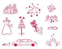 Stellen Sie Nachricht ein -- Hochzeit lizenzfreie abbildung