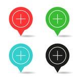 Stellen Sie NavigationsVorzeichenstelle ein lizenzfreie stockfotografie