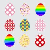 Stellen Sie Osterei für Ihr Design ein. Vector Illustration vektor abbildung