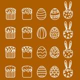 Stellen Sie Ostern-Ikonen ein Stockbild