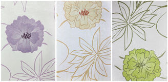 Stellen Sie Papierbeschaffenheit, mit Blumenmuster ein Stockbilder