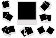 Stellen Sie polaroidfotorahmen ein Stockbild