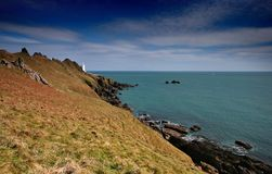 Stellen Sie Punkt-Leuchtturm Devon an Lizenzfreies Stockbild