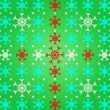 Stellen Sie Schneeflocke auf grünem Musterhintergrund her Lizenzfreies Stockfoto