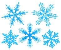Stellen Sie Schneeflocke ein Flocke des Schnees lizenzfreie abbildung