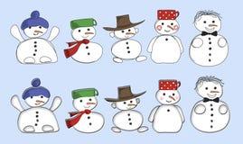 Stellen Sie Schneemänner ein Lizenzfreie Stockbilder