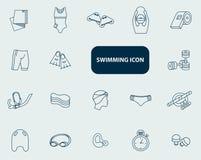 Stellen Sie Schwimmenikone ein Lizenzfreies Stockfoto