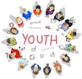 Stellen Sie sich Kinderfreiheits-Bildungs-Ikone Conept vor Lizenzfreies Stockbild