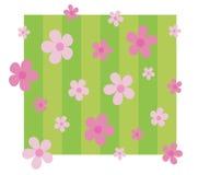 Stellen Sie sich rosafarbenen Blumenhintergrund vor stock abbildung