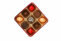 Stellen Sie sich Schokoladenkasten vor Stockfoto