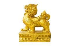 Stellen Sie Skulptur-dekorativen Löwe-Chinesen dar stockfotografie