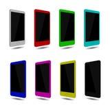 Stellen Sie SmartphoneTouch Screen, Farbe ein Vektor eps10 Lizenzfreie Abbildung
