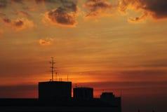Stellen Sie Sonnenuntergangzeit auf Stockfotos