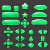 Stellen Sie Spiel ui ein Schließen Sie grünes Menü von GUI der grafischen Benutzeroberfläche ab, um 2D Spiele zu errichten Beiläu Stockbilder