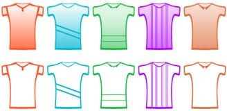 Stellen Sie Sportt-shirts ein Stockfotos