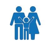 stellen Sie Symbolperson ein: Mutter, Vater und Kinder getrennt auf Weiß Stockfotos