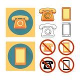 Stellen Sie Telefon ein Stockfotografie