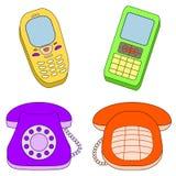 Stellen Sie Telefone ein Lizenzfreies Stockfoto