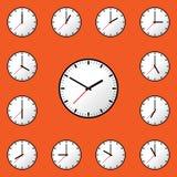 Stellen Sie Uhrikone Vektor-Illustrationsdesign EPS10 ein Lizenzfreie Stockbilder