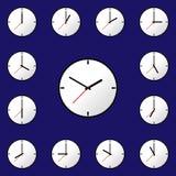 Stellen Sie Uhrikone Vektor-Illustrationsdesign EPS10 ein Stockbild