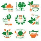 Gesunder Nahrungsmittelaufkleber Lizenzfreies Stockfoto