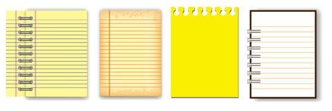 Stellen Sie vom Anmerkungsbuch oder von zerrissenem Papier ein vektor abbildung