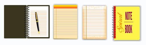 Stellen Sie vom Anmerkungsbuch oder von zerrissenem Papier ein lizenzfreie abbildung