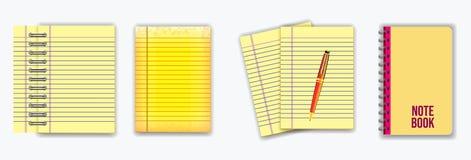 Stellen Sie vom Anmerkungsbuch oder von zerrissenem Papier ein stock abbildung